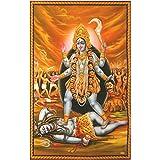 XL Poster Kali 145 x 95 cm Gottheit Hinduismus Kunstdruck Religion Spiritualität Dekoration Indien