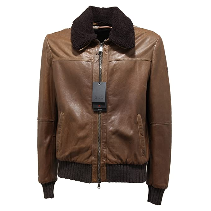 promo code f05a0 8ef8a 0904N giubbotto pelle PEUTEREY LE CUIR giacche uomo jacket ...