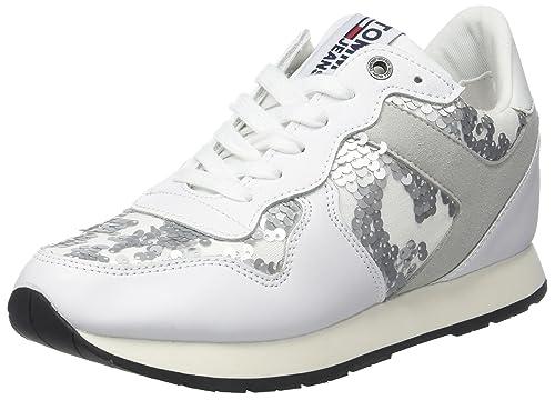 Tommy Hilfiger Tj Wedge Sequin Sneaker, Zapatillas para Mujer: Amazon.es: Zapatos y complementos