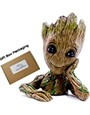 Guardians of The Galaxy Flowerpot Baby Groot Action Figures Cute Model Toy Pen Pot for Everyone