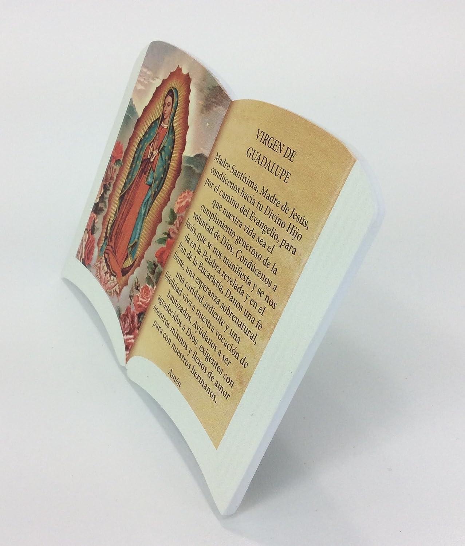 Soporte para rosario de pl/ástico ovalado con imagen de Virgen de Guadalupe color rojo oscuro GTBITALY