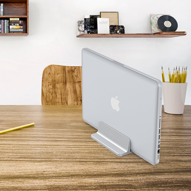 Megainvo Supporto Computer iPad Notebook Book Laptop Tablet Supporto Computer Portatile Alluminio Fino a 15.6 Pollici 3 in 1 per Phone