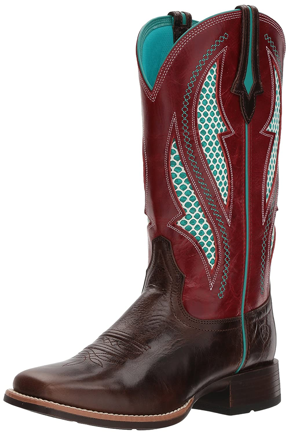 Ariat Women's Venttek Ultra Western Boot B076MKCRRS 6 B(M) US|Chocolate Chip/Rooster Red