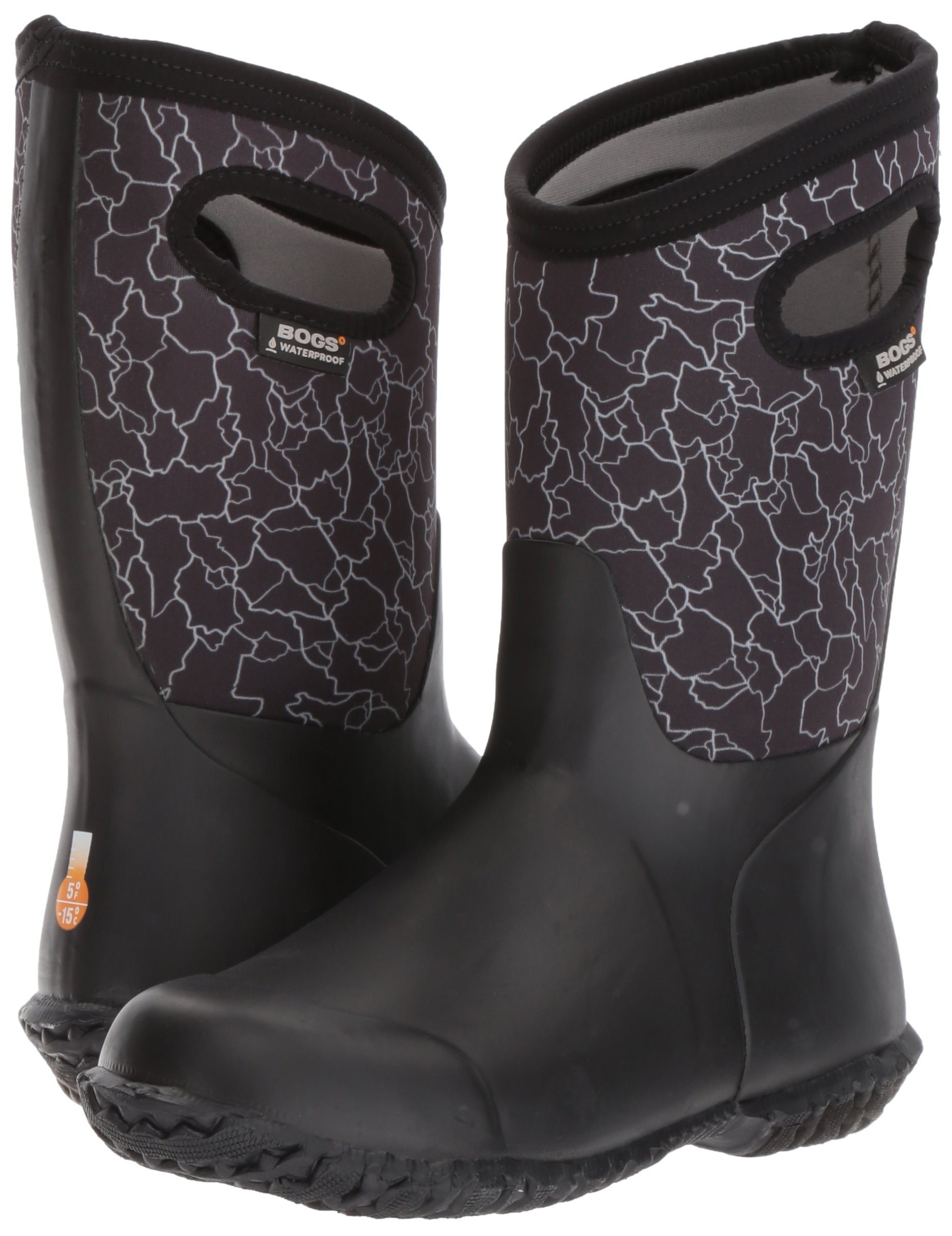 Bogs Durham Kids/Toddler Waterproof Snow Boot for Boys and Girls, Crackle Print/Black/Multi, 12 M US Little Kid by Bogs (Image #6)