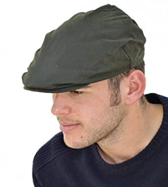 Mens Wax Cotton Flat Cap with Fleece Thinsulate Lining  Amazon.co.uk   Clothing e716aeabbc9