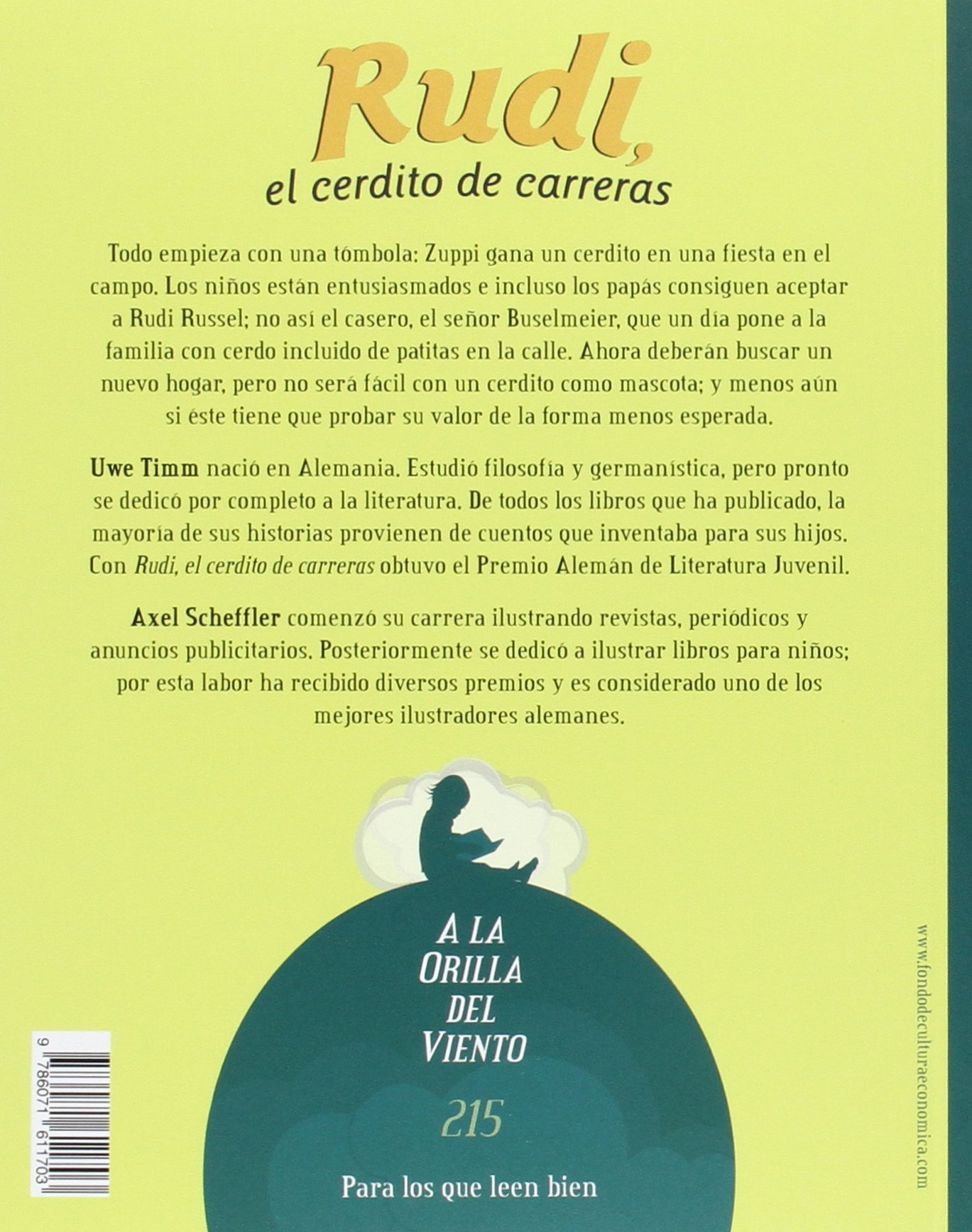 Rudi, el cerdito de carreras (A la Orilla del Viento) (Spanish Edition): Uwe Timm: 9786071611703: Amazon.com: Books