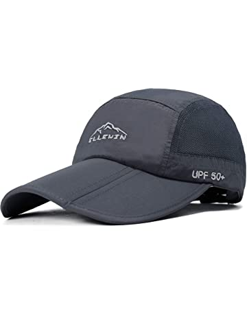 a992d156 ELLEWIN Unisex Baseball Cap UPF 50 Unstructured Hat with Foldable Long  Large Bill