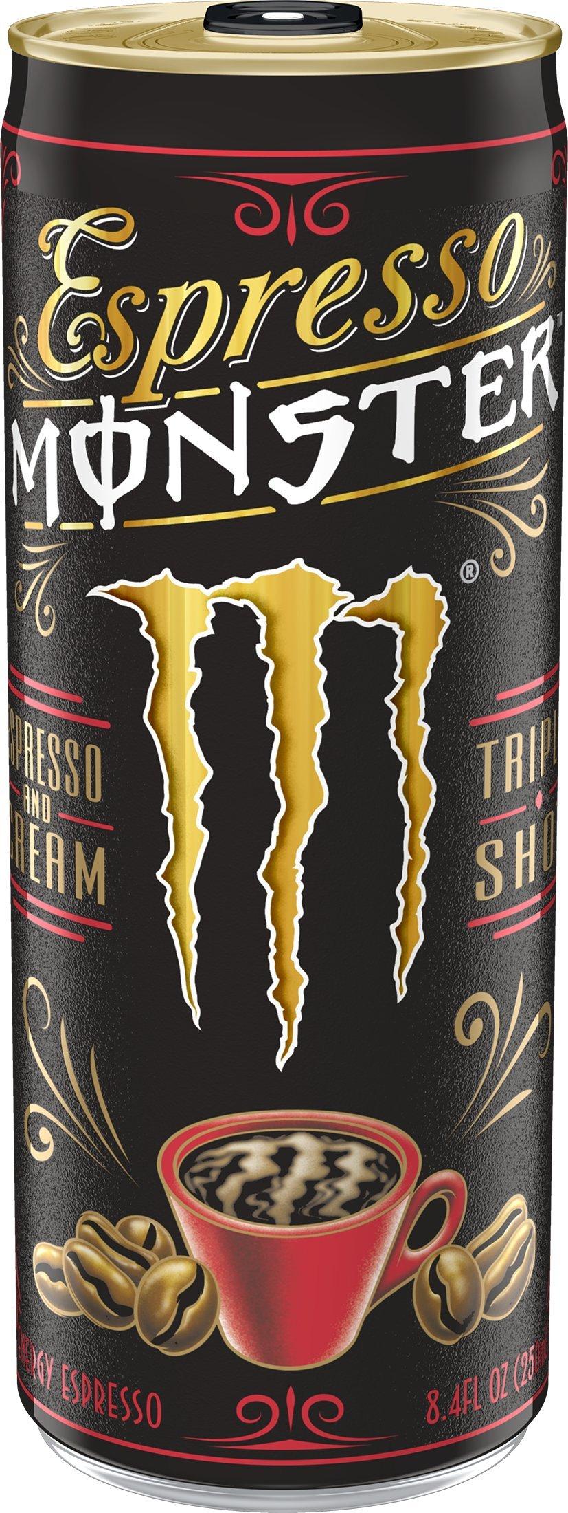 Espresso Monster, Espresso and Cream, 8.4 ounce (Pack of 12)