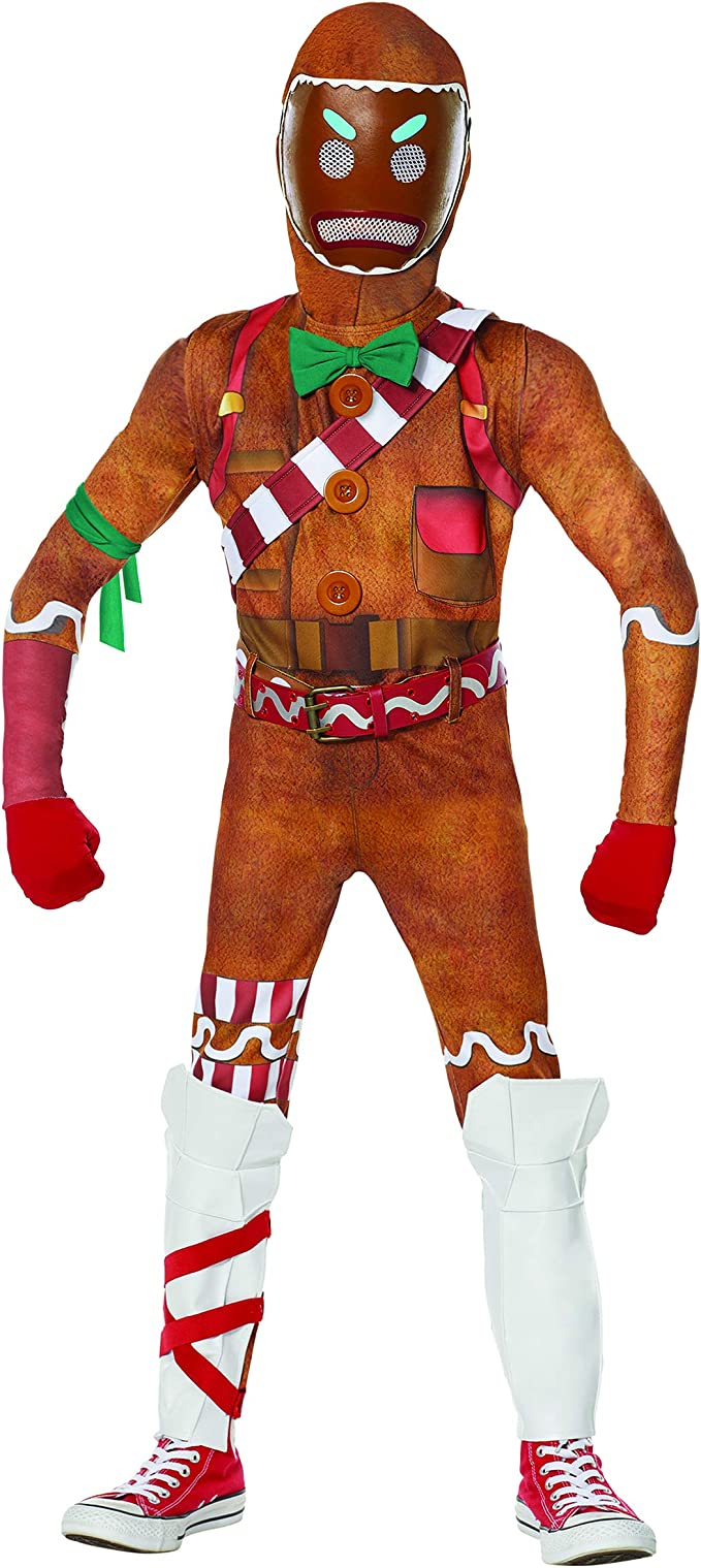 Amazon Com Spirit Halloween Kids Merry Marauder Fortnite Costume Officially Licensed M Clothing