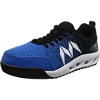 Mandom Knit Safety Sneakers - Steel Toe Cap, Breathable Knitted Material, Lightweight