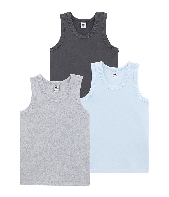 per of 3 Petit Bateau Jungen Unterhemd