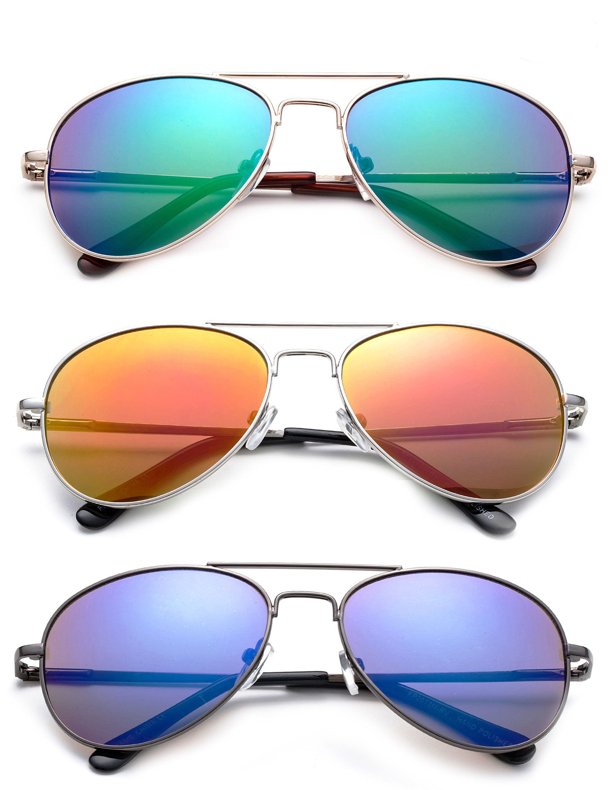 ''Sonido'' - Kyra Hand Polished Lead Free Fashion Sunglasses with Flash/Mirror Lenses for Kids Ages 1-5 years Old Fashion Accessories