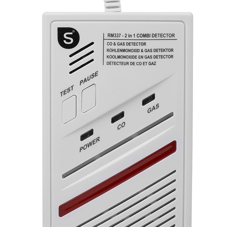 Smartwares 10.029.29 Detector Combinado de Gas CO (Sensor de 5 años, 220 voltios), Blanco: Amazon.es: Bricolaje y herramientas