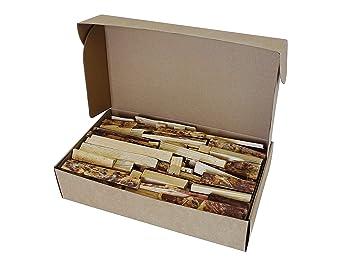 Firewood Grill - Piezas y Cubos de Madera 100% Natural y Hecho a Mano Para Barbacoa y Parrillas (10L). Venta directa del productor.