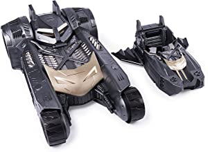 BATMAN Batmobile and Batboat 2-in-1 Transforming Vehicle, for Use 4-Inch Action Figures