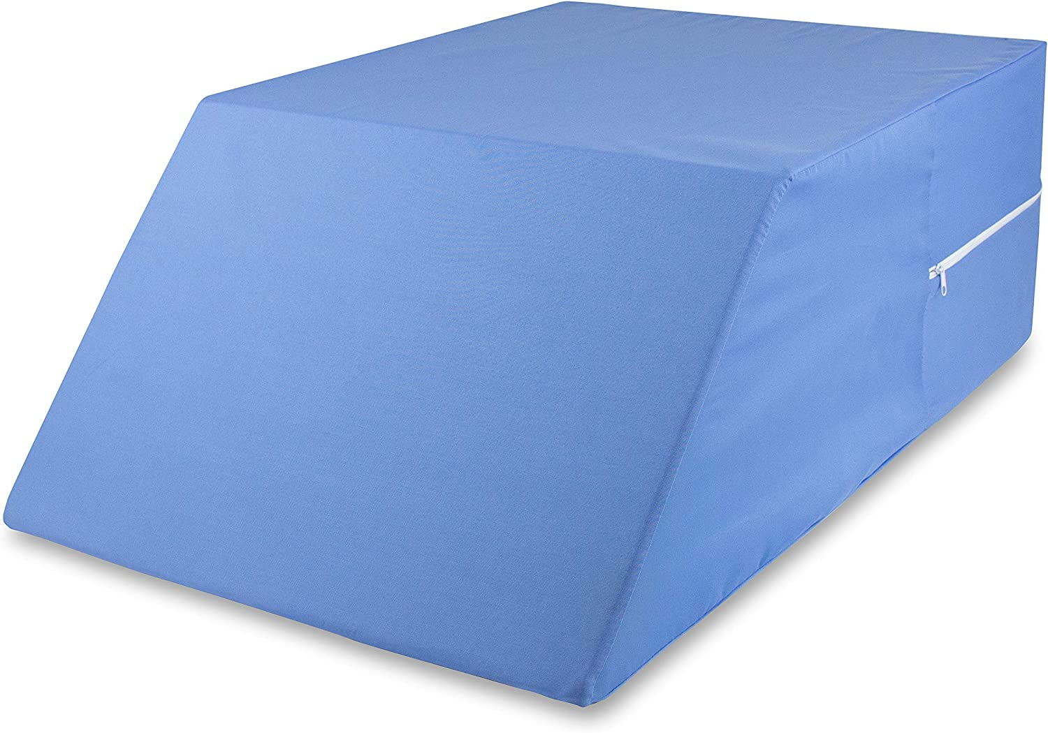 "DMI Ortho Bed Wedge Elevated Leg Pillow, Supportive Foam Wedge Pillow for Elevating Legs, Improved Circulation, Reducing Back Pain, Post Surgery and Injury, Recovery, Blue, 10"" x 20"" x 30.5"""