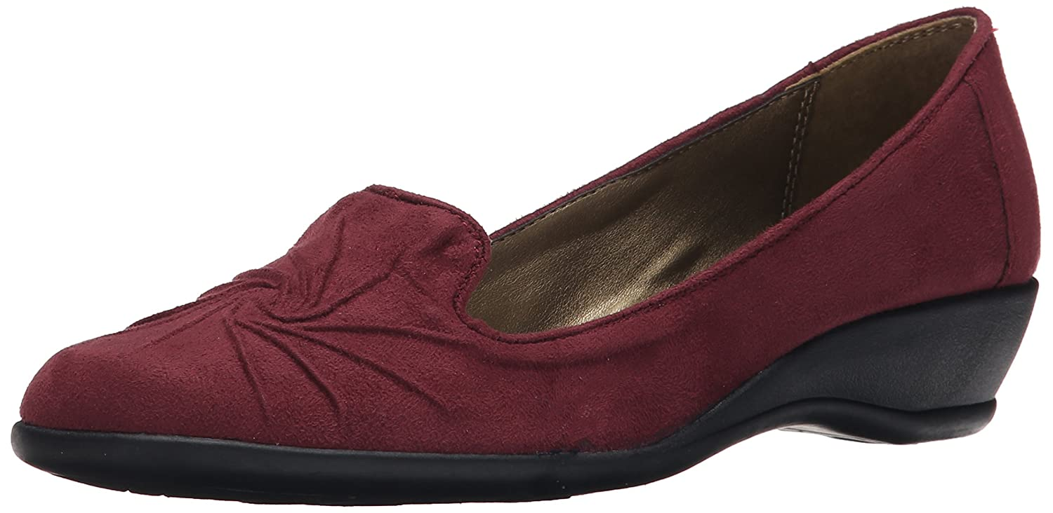 Stile Soft di Hush Puppies Rory piatti Wine Faux Suede