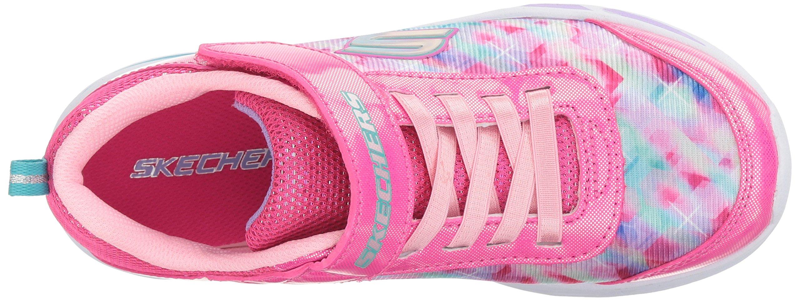 Skechers Kids Girls' Litebeams-Dance N'Glow Sneaker,neon Pink/Multi,1 Medium US Little Kid by Skechers (Image #8)
