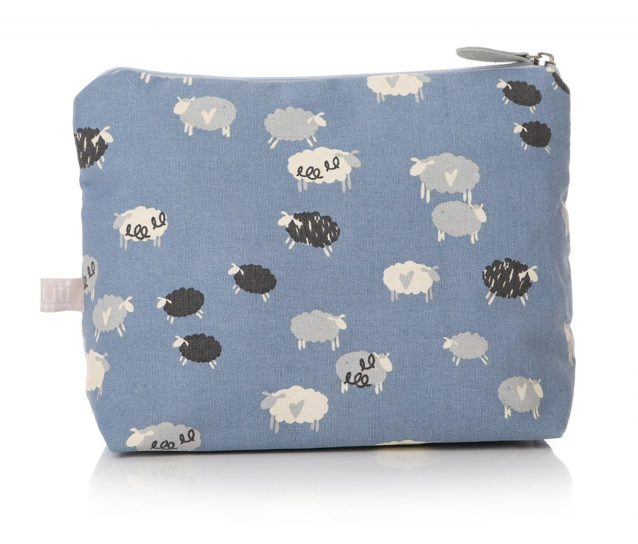 LilyRosa Women's Blue & White Sheep Cosmetics Wash Bag Shruti