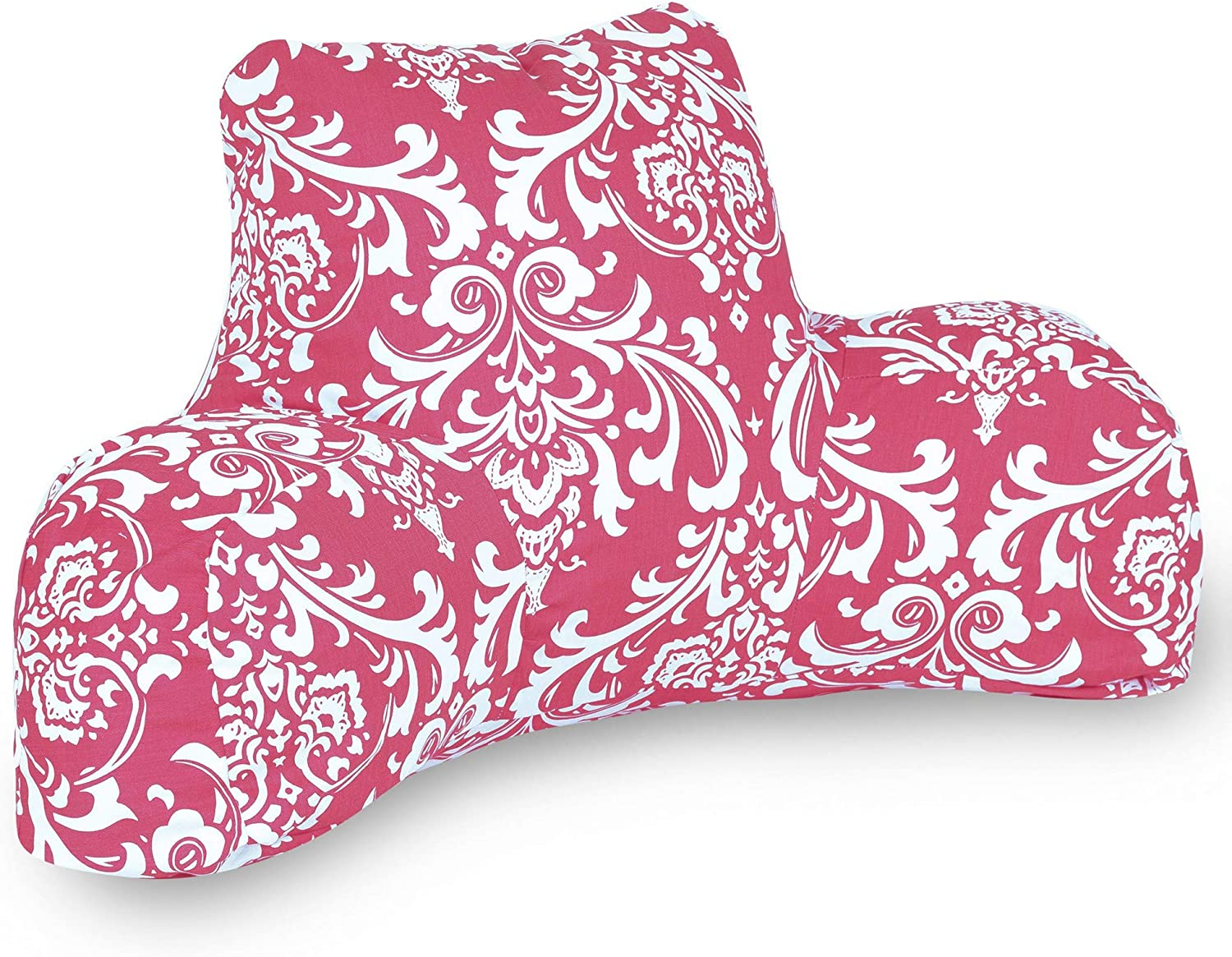 Majestic Home Goods French Quarter Reading Pillow, Hot Pink