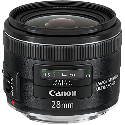 amazon com canon ef 28mm f 2 8 is usm wide angle lens fixed