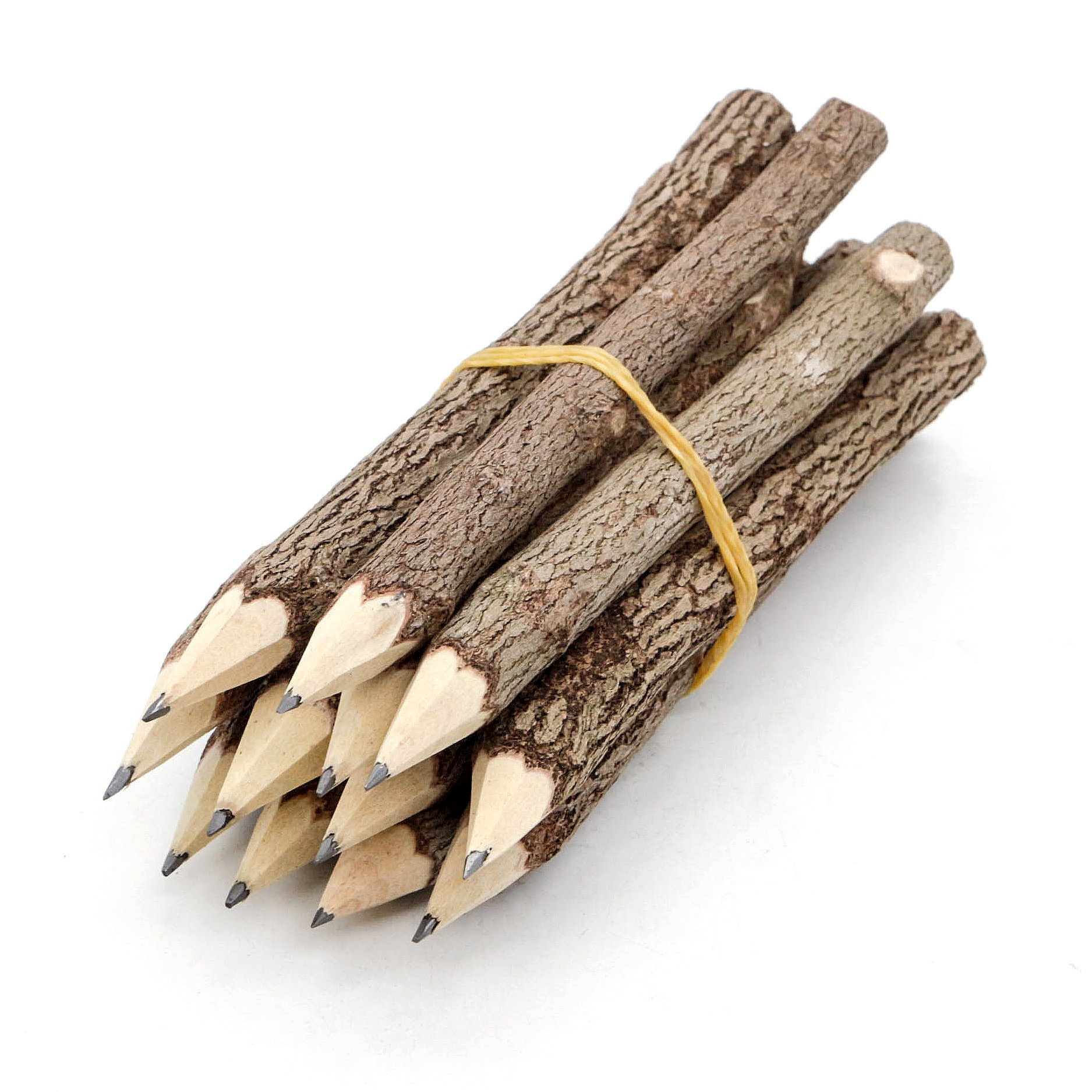 BSIRI Graphite Wooden Tree Rustic Twig Pencils Unique Birch of 12 Camping Lumberjack Party Novelty Gift by BSIRI (Image #1)