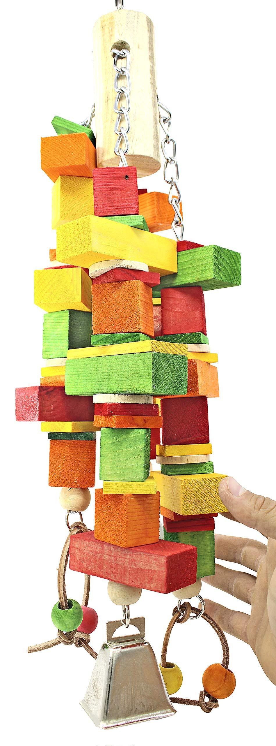 Bonka Bird Toys 1131 Giant Oblong Chew Huge Bird Toy by Bonka Bird Toys