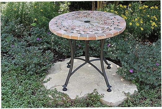 Ooutdör Intewers Mesa de jardín para Exteriores con Piedra ...