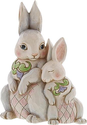 Enesco Jim Shore Heartwood Creek Forever My Honey Bunny Double Bunnies Figurine
