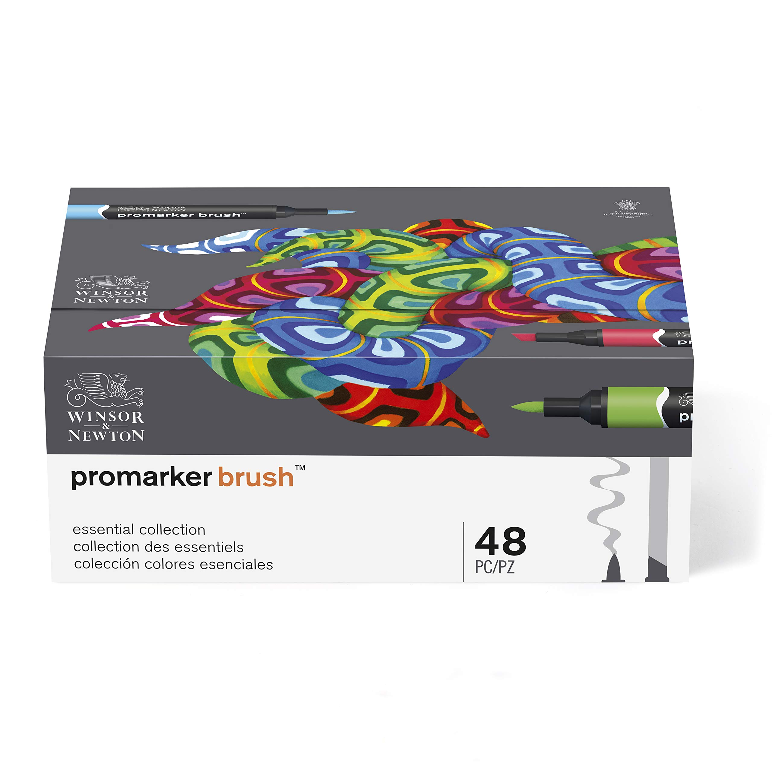 Winsor & Newton Promarker Brush, Set of 48, Essential Collection by Winsor & Newton