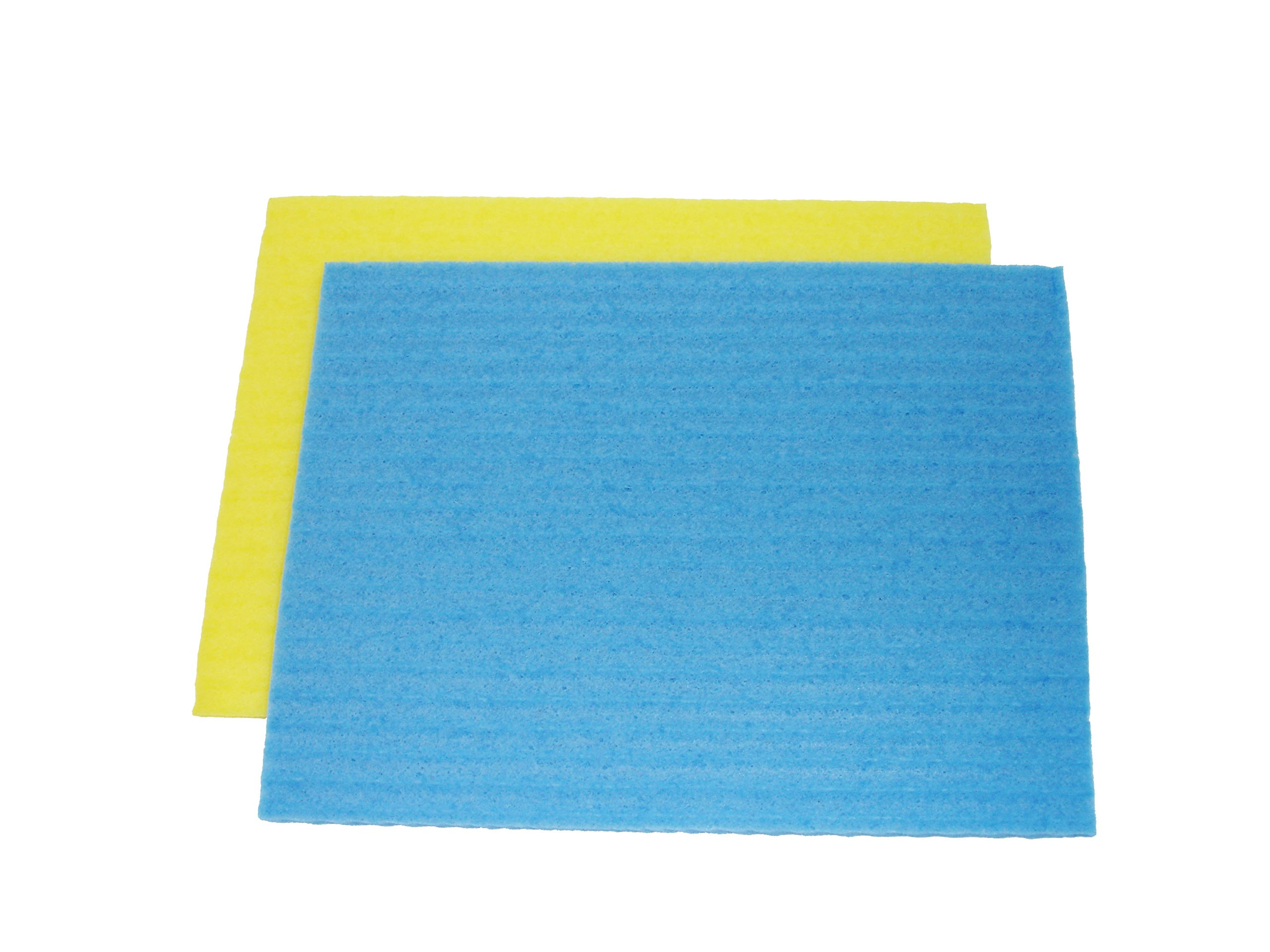 Cellulose Sponge Cloth by Compac Industries - 12 Sponges, Cleaning Reusable Kitchen Sponge Cloths - Save Money by Replacing Paper Towels - 2 Count - 6 Packs by Compac Industries