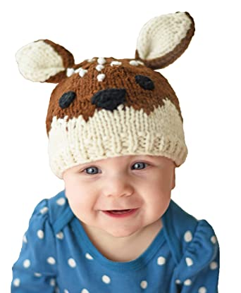 9b264f7a3a5 Amazon.com  Huggalugs Baby and Toddler Childrens Fawn Deer Beanie ...