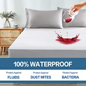 """Polycotton mattress protector for 2/'6/"""" x 6/'6/"""" bed 75cm x 200cm bed 13/"""" depth"""