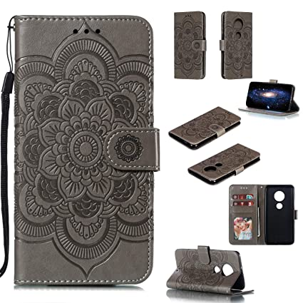 Amazon com: Moto G7 Plus Wallet Case,Floral Henna Ojibwe
