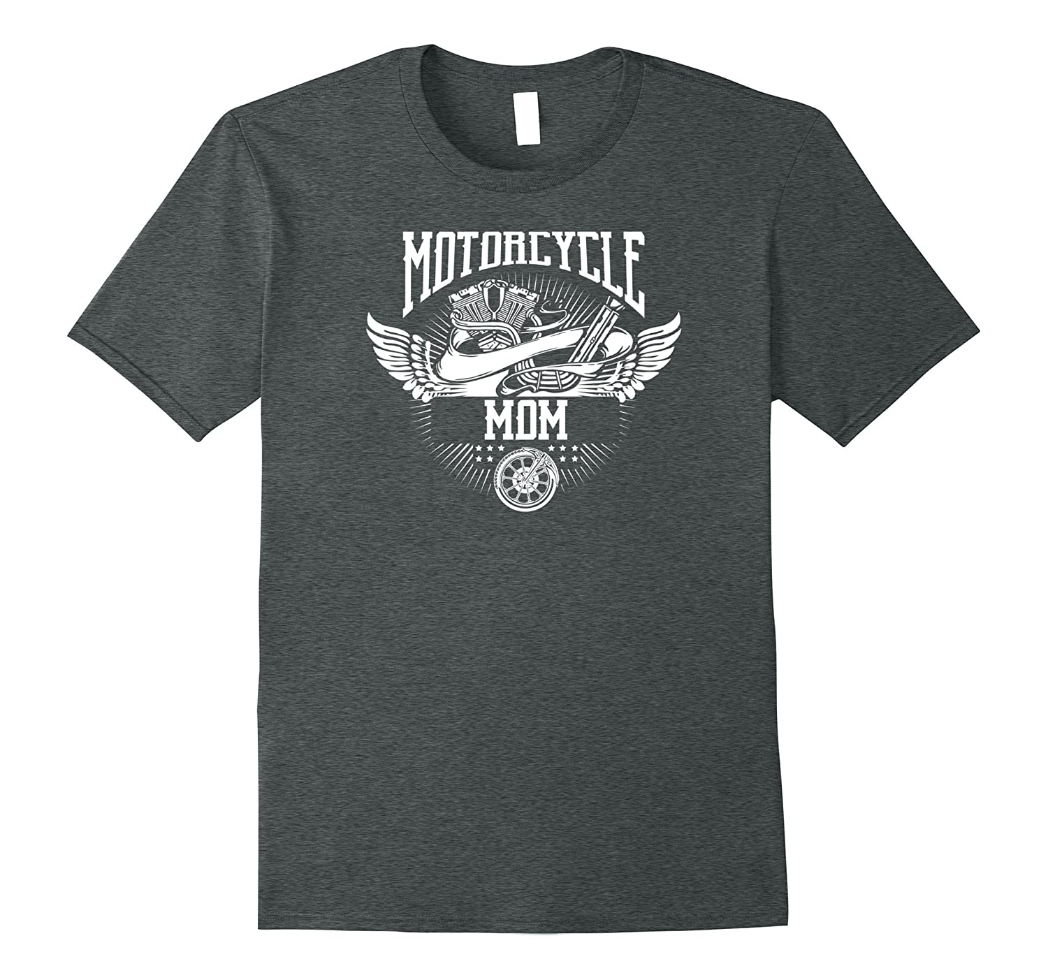 Motorcycle Mom Biker T-shirt-Vaci