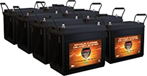 Qty 8 VMAX SLR155 Vmaxtanks AGM Deep Cycle 12V Batteries 155ah Each SLA Rechargeable Battery for Use with Pv Solar Panels,Smart Chargers Wind Turbine and Inverters
