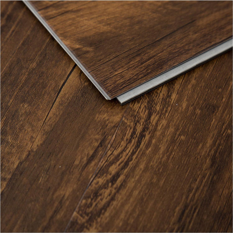 "48-1//32/"" X 7-7//32/"" 28.84sqft SELKIRK Vinyl Plank Flooring-Waterproof Click Lock Wood Grain-5.5mm SPC Rigid Core SK559 //Box"