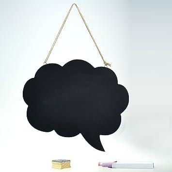 Doble cara pizarra nube de burbujas con goma de borrar, tiza ...