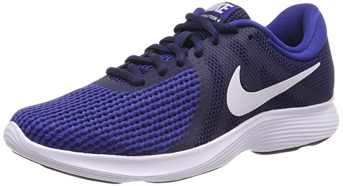 Nike Rovolution 4 Herren blau mit weißem Streifen (Midnight Navy/White/Deep Royal Blue)