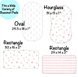 3 Pack Organic Cotton Fitted Bassinet Sheets for