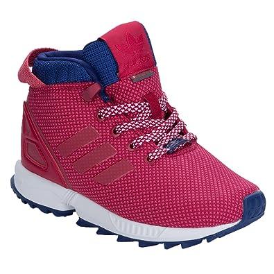 5395454143989 adidas Girls Originals Children Girls ZX Flux 5 8 Trail Trainers in Pink -  UK 2.5