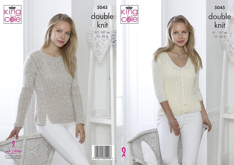 King Cole Knitting Pattern 5372 Ladies Sweaters