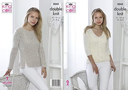 1b6798a90 Image Unavailable. Image not available for. Colour  King Cole 5045 Knitting  Pattern Womens Sweater ...