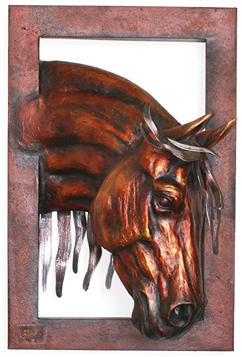 Amazon.com - 3D Quarter Horse Profile Wall Sculpture - Single Frames