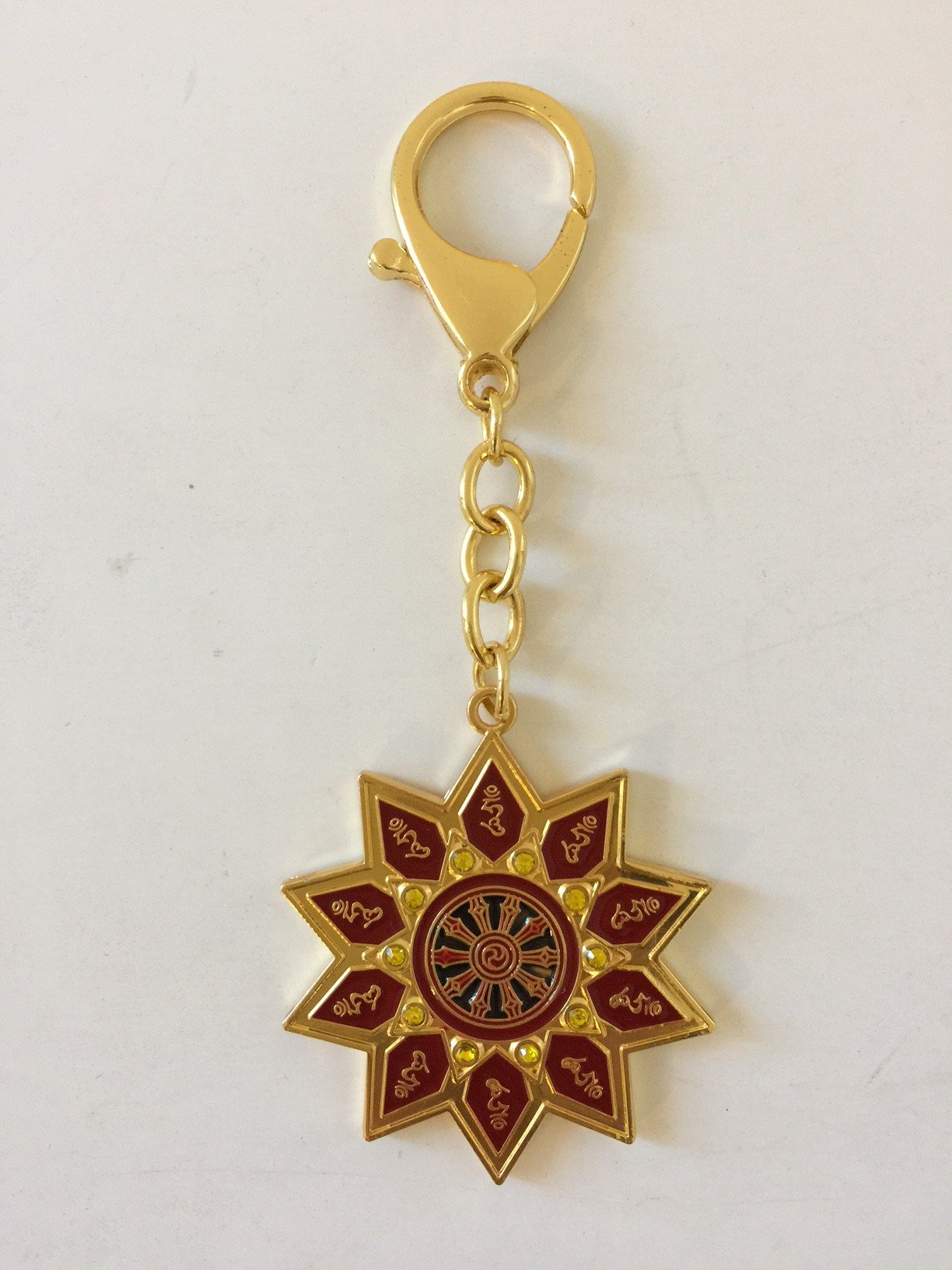 Feng Shui Ten Hums Magic Syllable Keychain Amulet