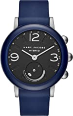 Marc Jacobs Women's Hybrid Smartwatch Watch with Rubber Strap, Blue, 20