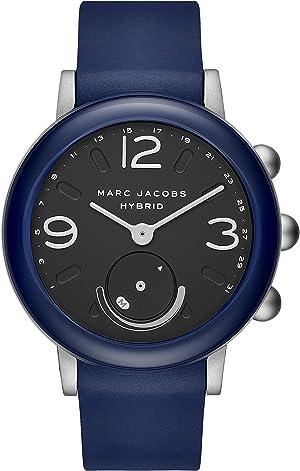 Marc Jacobs Women's Hybrid Smartwatch Watch with Rubber Strap, Blue, 20 (Model: MJT1013)