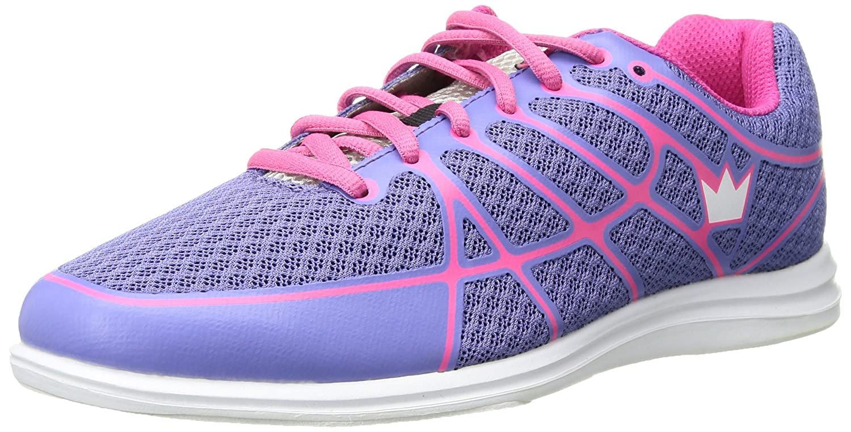 Brunswick Aura Ladies Bowling Shoes B01HH380Z4 Size 9.5|Pink/Purple