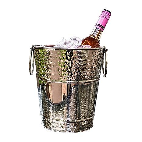 Amazon.com: brekx Napoli Hammered Vino de lujo de acero ...