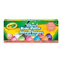 Crayola Washable Neon Paint, School, Craft, Painting and Art Supplies, Kids, Ages 3,4, 5, 6 and Up, Holiday Toys, Stocking Stuffers, Arts and Crafts
